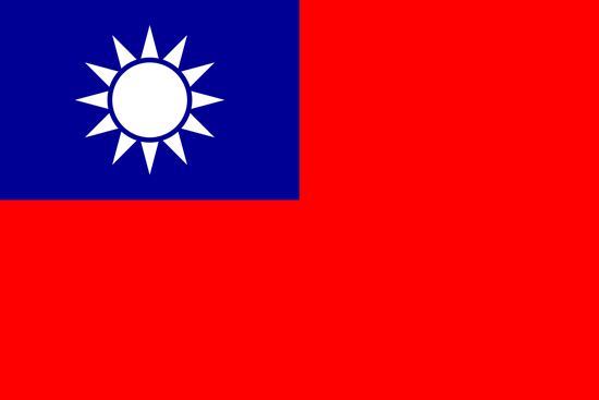Picture of Taiwan flag (162LK-NF-TW)