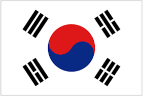 Picture of South Korea's flag (162LG-NF-SK)