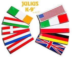 Picture of Large National Flag labels for Harnesses  (162LG-NF-ALL)