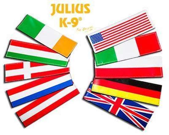 Picture of Small National Flag labels for Harnesses  (162LK-NF-ALL)