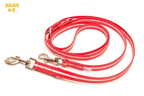 Picture of IDC® Lumino leash, adjustable - 0,75 in / 7,2 feet, RED
