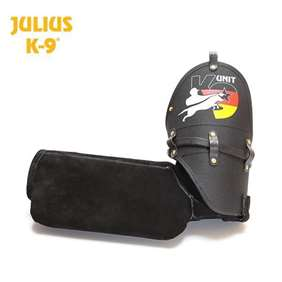 Picture of Training sleeve - K9® leather sleeve - soft, left, model 2015, with German flag