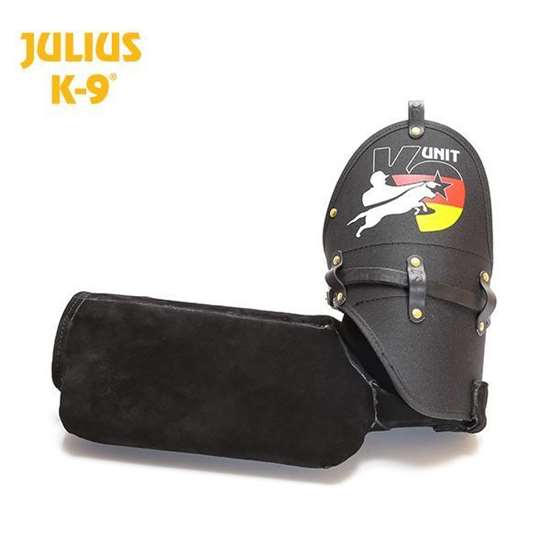 Picture of Training sleeve - K9® leather sleeve - soft, right, model 2015, with German flag
