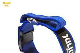 Picture of Julius-K9® collar with handle - BLUE (1.57 in)