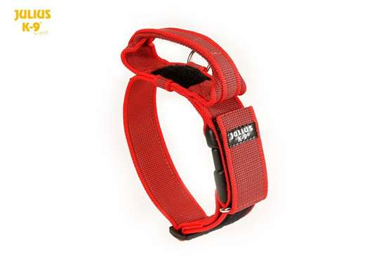Picture of Julius-K9® collar with handle - RED (1.97 in)
