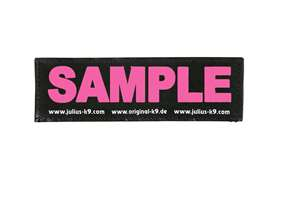 Picture of Wish label small - neon pink - 4,3 x 1,2 in (162-LRW-K-NPN)