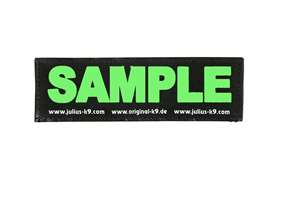 Picture of Wish label small - neon green - 4,3 x 1,2 in (162-LRW-K-NG)