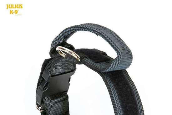 Picture of Julius-K9® collar with handle - BLACK (1.57 in)